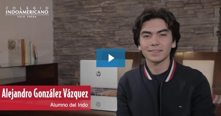 Alumno del Colegio Indoamericano